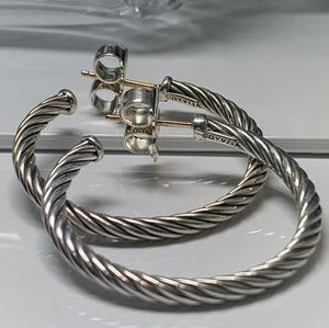 ❤David Yurman ❤ cablespira hoops earrings